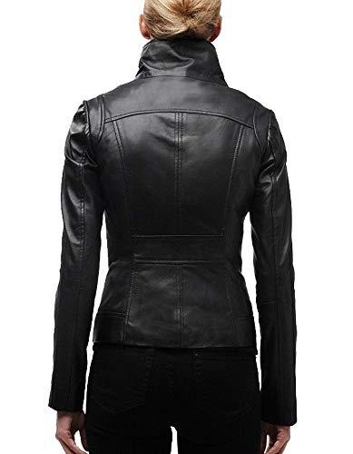 Chaqueta Ll896 Mujeres Copia Exemplar Auténtica Negro Para De Piel Cordero Ll800 v7qBvw