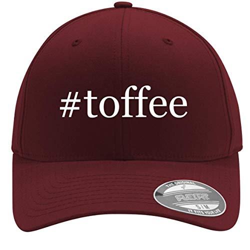 #Toffee - Adult Men's Hashtag Flexfit Baseball Hat Cap, Maroon, Large/X-Large