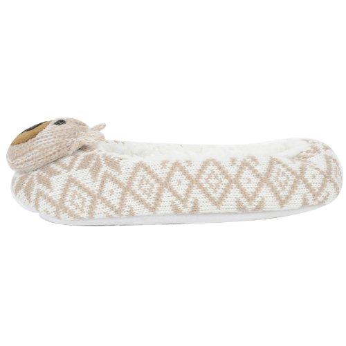 KS Brands - Zapatillas de estar por casa para mujer Beige - beige