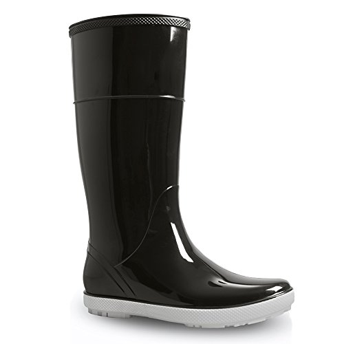 Black Demar rain Black boots boots hawai lady rubber YqrY67