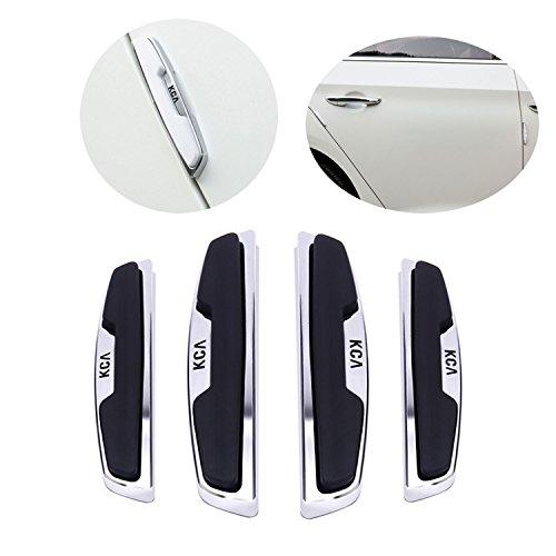 FancyAuto Car Door Protectors Self-Adhesive Protection Bumper Front or Rear Door Guard Edge Strip with 4PCS (Black)