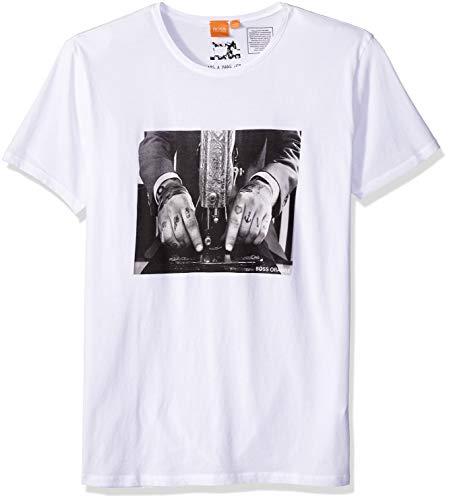 BOSS Orange Men's Taboo3 Printed T-Shirt, White, XL by Hugo Boss