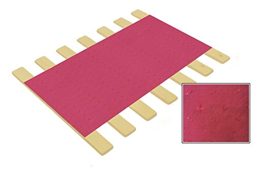 - Custom Made in the U.S.A.! Youth Size Bed Slats/Platform Bed Boards-Cut to the Width of Your Choice (Hot Pink Eyelet)