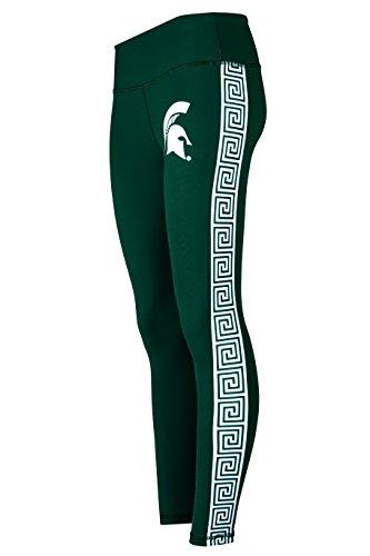 Michigan State Spartans Full Length Womens Yoga Pant Leggings (Medium) Green - Michigan State Pants