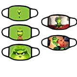 5pcs Cartoon Gri-NCH Mask Outdoor Kids/Youth Face