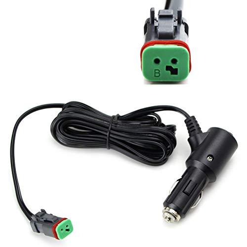 iJDMTOY (1) 10ft 12V Cigarette Lighter DTP Adapter Harness w/Switch For LED Pod Light, LED Light Bars, LED Work Lamp (Compatible Up To 120W)