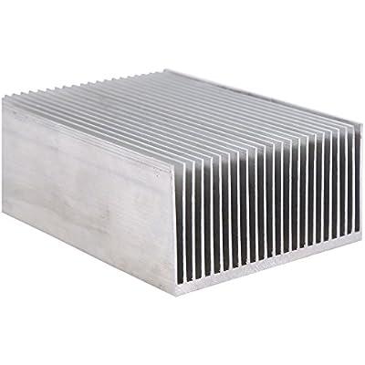 """Aluminum Heat Sink Heatsink Module Cooler Fin for High Power Led Amplifier Transistor Semiconductor Devices with 23 pcs Fins 3.93""""(L) x 2.71""""(W) x 1.41""""(H) / 100mm (L)x 69mm(W) x 36mm(H)"""