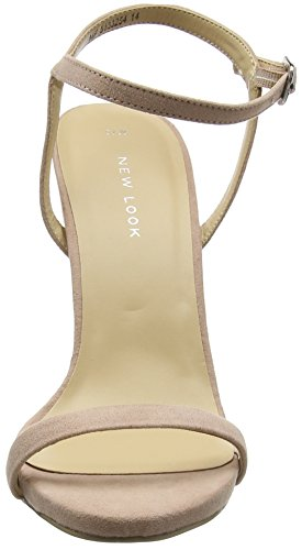 New Look Women's Santorini Closed-Toe Heels Beige (Oatmeal) b3uMyhFz7X