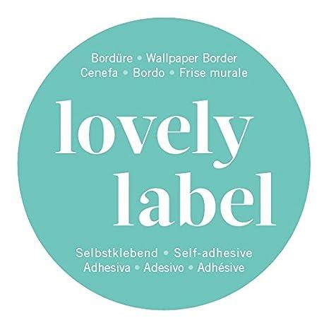 lovely label Bordüre selbstklebend STERNE GRAU/BLAU - Wandbordüre ...