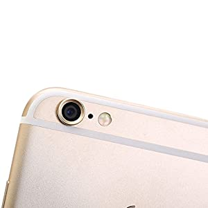 UHIPPO® iPhone 6 iPhone 6s Rear Camera Lens Protector Aluminum Camera Protective Ring Camera Case for Apple iPhone 6 iPhone 6s 4.7 Inch Screen Champagne Gold