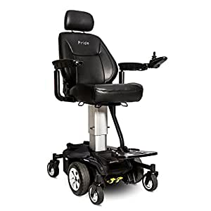 "Pride JAZZY AIR Powerchair Electric 10"" Power Adjustable Seat Height (Pearl White)"