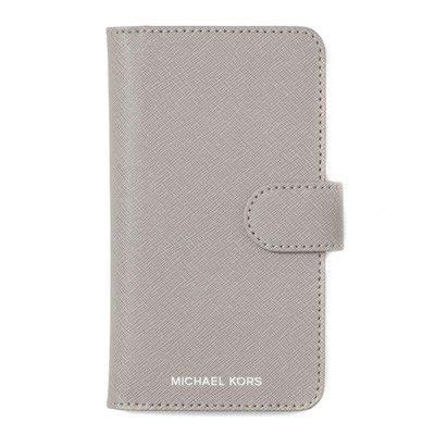 aef517fcd9f6 Amazon.com: Michael Kors Saffiano Leather Folio Phone Case for iPhone X  (Pearl Grey): Electronics