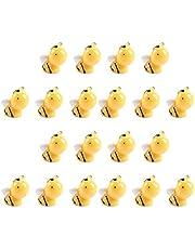 HEMOTON Bijenfiguren, miniatuur, bijen, 20 stuks, hars, miniatuur, dierfiguren, insecten, speelgoed, micro-landschap, bonsai, feeëntuin, poppenhuis, decoratie, cake, topper, verjaardag, Kerstmis, festival