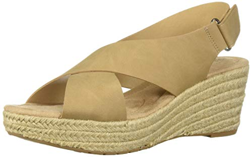 (CL by Chinese Laundry Women's Dream Too Wedge Sandal Nude Nubuck 8 M US)