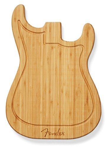 Get your Fender chops together in the kitchen with this smartly designed cutting board, shaped like the body of our venerable Telecaster and Stratocaster guitars and made with recycled wood from our Mexico manufacturing facility.