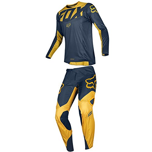 Fox Racing 2019 360 KILA Jersey and Pants Combo Offroad Gear Set Adult Mens Navy/Yellow XL Jersey/Pants 36W 360 Off Road Pants