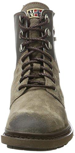 Napapijri Militari Donna Reese N82 Iron Grey Beige Stivali rqEr7