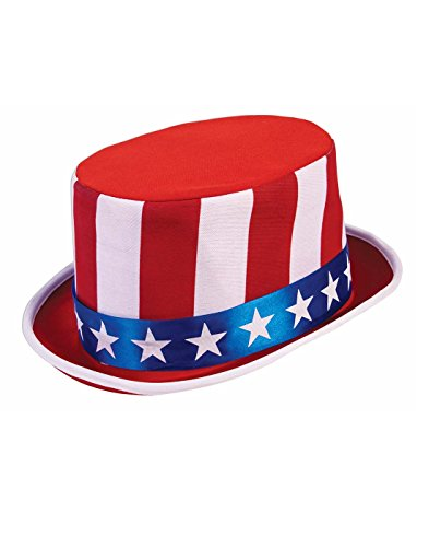 - Forum Novelties Patriotic Top Hat, Red/White/Blue