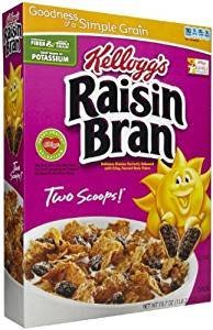 Kellogg's Raisin Bran Made With Real Fruit 18.7 Oz. Pack Of 3. ()