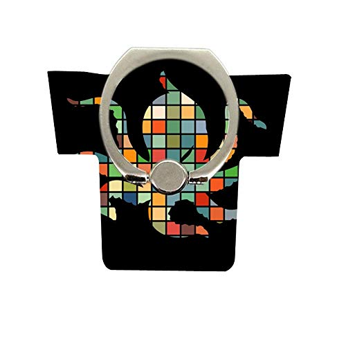 Phone Ring Holder Stand,Universal Thin Finger Ring Grip 360° 180°Flip Ring Stand Grip Mount Compatible for Smartphones Multicolored Square Octopus Silhouette