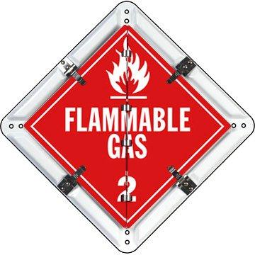 "8 Legend DigiLock Placard with Clipped Corners, Aluminum (white), 13.75"" x 13.75"""