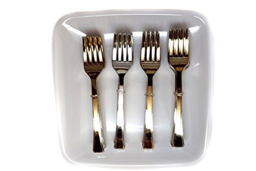 Farberware Appetizer Set, 1-Pack (24 Appetizer Forks and 4 Appetizer Plates in Total)