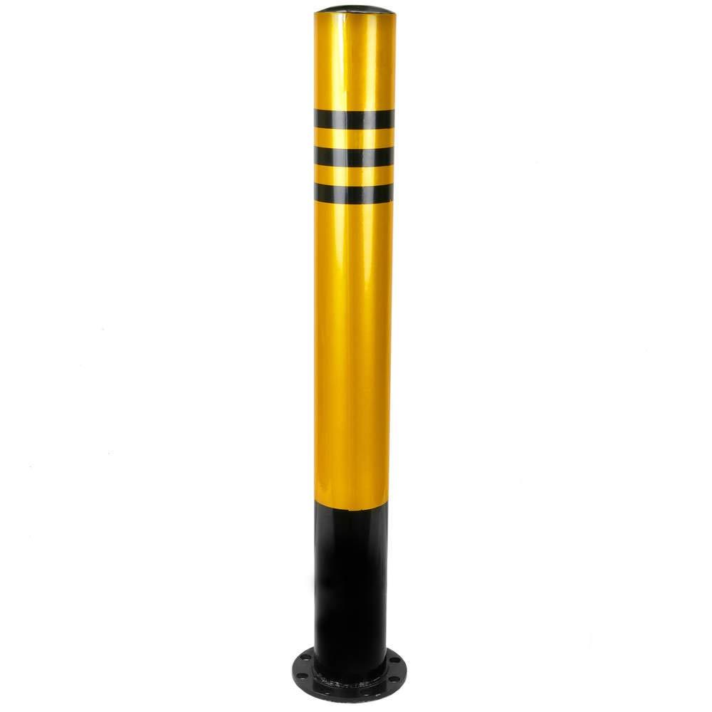 PrimeMatik - Steel bollard with nailed base 110x1000mm PrimeMatik.com PN05011618200127754