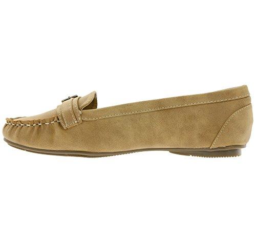 Dolce Vita Mokassin Schuhe Damen Halbschuhe Slipper Braun 242 427, Größenauswahl:40