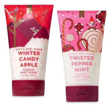 Bath and Body Works 2 Pack Funfetti Body Scrub 6.2 Oz. Winter Candy Apple and Twisted ()