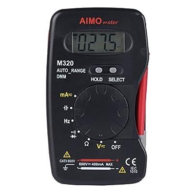 AIMOmeter M320 Pocket Size Auto range Handheld Digital Multimeter DMM Frequency Capacitance Measurement Data Hold