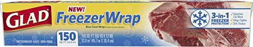 Glad Freezer Wrap, 150 Square Foot Roll (Press N Seal Freezer Wrap)