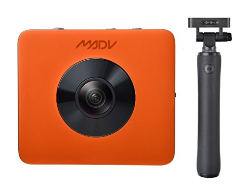Madv Xiaomi Madventure 360 Camera 4k Video 24mp Photo Waterproof Selfie Stick And Tripod Included