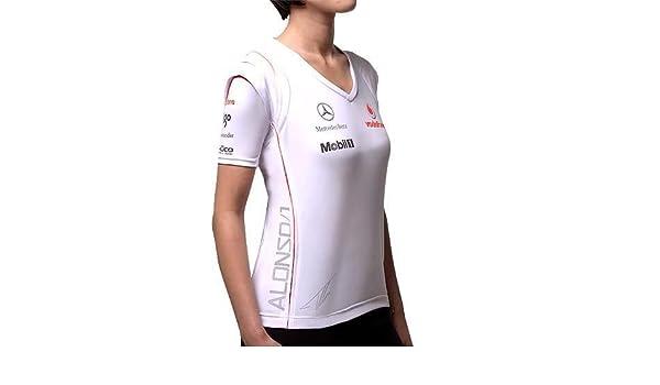 Camiseta de manga corta para mujer, Vodafone McLaren Mercedes ...