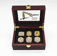 6Pcs Set KB 2016 Retirement Commemorative Mamba Forever Ring and LA Championship Replica Ring Lakers 2000 2001