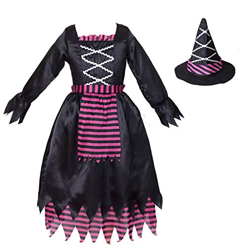 Meeyou Girls Witch Costume with Hat, Classic Halloween