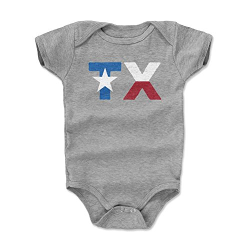 - 500 LEVEL Texas Baby Clothes, Onesie, Creeper, Bodysuit - 3-6 Months Heather Gray - Texas TX Star WHT