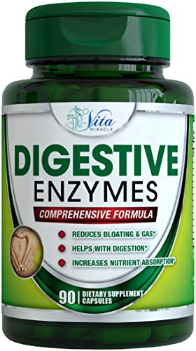 #1 Digestive Enzyme Supplements Support Digestion with Essential Super Digestive Enzymes Lipase Amylase lactase Protease. Enzymes for Digestion Supplement Your System to Help You Fully Digest Food