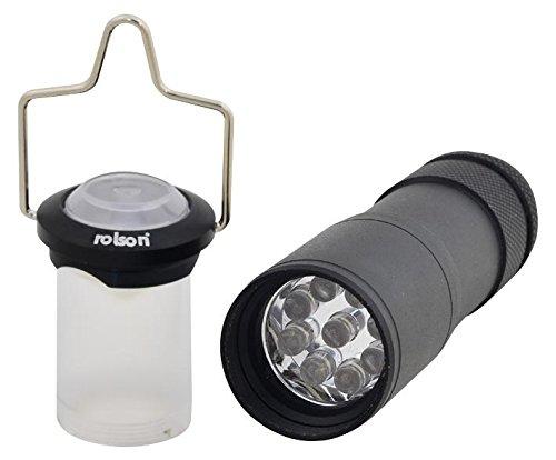 ROLSON TOOLS 61666 linterna 9LED aluminio Linterna cubierta [tamaño [tamaño cubierta del paquete: 2] (certificado personificación) 8140cf
