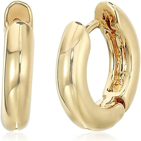 Anne Klein Women's Gold Huggie Hoop Earrings