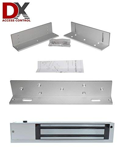 DX Series Z and L Brackets for 600lb Inward Swing (inswing) Door and 600LB Magnetic Lock for Commercial Access Control Door Systems
