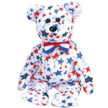Ty Beanie Babies - Red, White & Blue the Bear