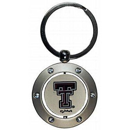 Texas Tech Red Raiders Ring - GAMEDAY NCAA Officially Licensed Spinner Key Chain Key Ring (Texas Tech Red Raiders)