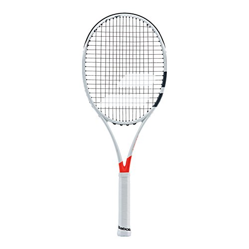 Babolat Pure Strike 25 Junior Grey/Orange/White Tennis Racquet (4 1/8 Inch Grip) Strung with White String (Best Junior Racket for Control) - Babolat Pure Control Team