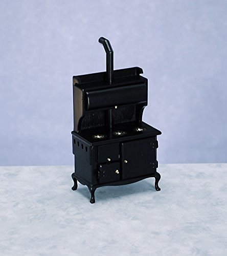 dollhouse miniature wood stove - 3