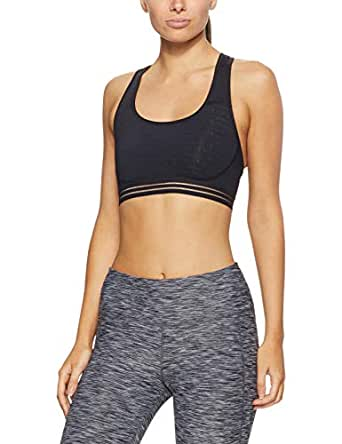 Champion Women's The Absolute Workout Bra, Champion Script & Black, X-Small