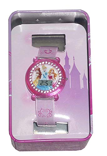 - Disney Princess Girls Digital LCD Watch Pink w Stones on case - PRSKD708