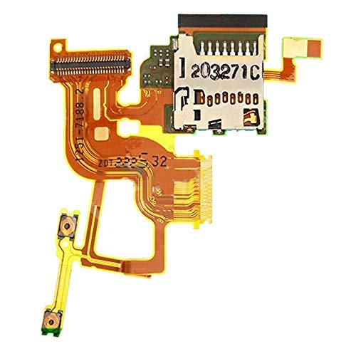 Leya Repair Parts Power Button and Volume Button Flex Cable with Card Slot Replacement for Sony Xperia ion LTE / LT28at / LT28i]()