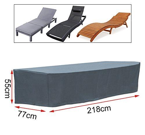 Gartenschutzhülle Abdeckhaube für Sonnenliege Wasserdicht 218x77x55cm GZ1173an