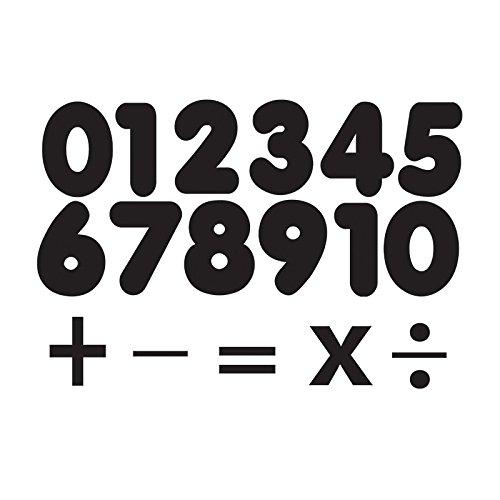 Ashley Productions Black Die Cut Magnets Number Set