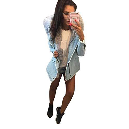 Pulsante Tasche Giacca Giaccone Battercake Con Cappuccio Anteriori Di Elegante Autunno Outerwear Casuale Moda Donne Comodo Swag Invernali Lunga Streetwear Grau Manica Donna zxqSxZAw4